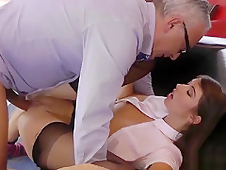 Stockings brit fuck old
